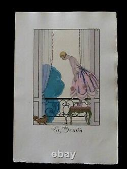 George Barbier LA SOURIS Pochoir édition originale 1925 Falbalas et Fanfreluche
