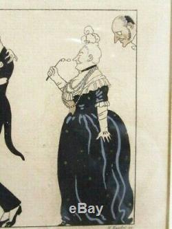 George Barbier La Folie du Jour pochoir dédié à l'occasion du 1er Janvier 1914