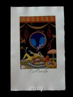 George Barbier La Paresse Les 7 péchés capitaux Pochoir édition originale 1925
