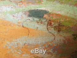 Georges Gobeau Dit Gobo Pastel Tableau Dessin Paysage Rochers Marine Bretagne