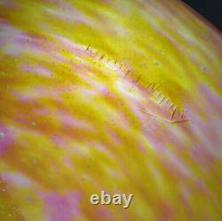 Grand Lustre ancien art déco signé DAUM NANCY MAJORELLE fleurs de lys Fer forgé