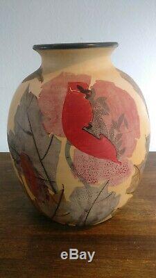 Grand vase en Ceramique de vallauris signé Louis Giraud Art Déco Hauteur 33 cm