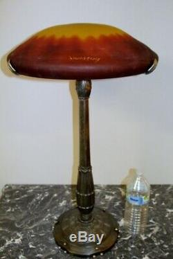Grande Lampe art deco signé Daum 90cm De Hauteur