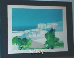 Grande Lithographie signée Alfred DEFOSSEZ aussi FREDDY paysage mi abstrait