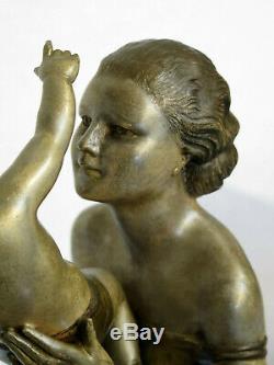 Grande statue Art Déco signée URIANO (Cipriani) 1930
