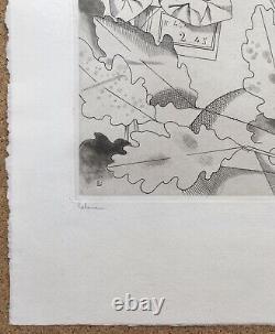 Gravure Fleurs Artificielles Nénuphars et Muguet Jean Émile Laboureur 1924 5/45