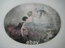 Gravure Signée Crayon Style Art Déco-1920 Style Louis Icart Handsigned Etching