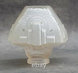 Gros globe LAMPE BUILDING MODERNISTE ART DECO SKYSCRAPER signé Schneider