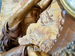 Jacques Limousin Pendule Art Déco sculpture femmes signée