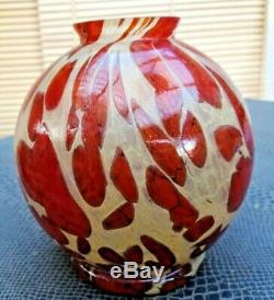 Joli vase art-déco forme boule signé Degué début 20 ème