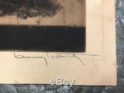 LOUIS ICART ANCIENNE LITHOGRAPHIE ORIGINALE CONCHITA SIGNÉE art déco