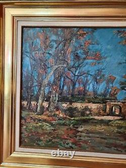 LUC HUEBER 1955 STRASBOURG le parc de la Citadelle