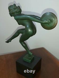 La Danseuse Aux Cymbales Signée Garcia D'après Max Le Verrier