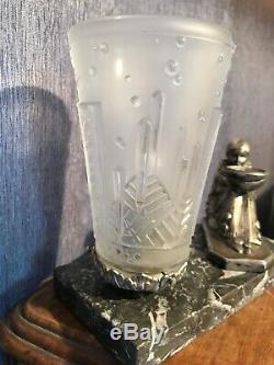 Lampe 1930 Art Deco Signe Muller Brule Parfum Tulipe Degue French Lamp Lustre