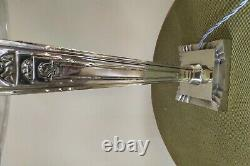 Lampe ART DECO bronze argentée verre signée SCHNEIDER et numérotée 1930
