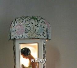 Lampe veilleuse brûle parfum coloniale Limoges signée RAUCHE (DUCHAUSSY)