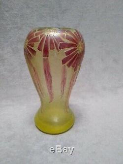 Legras vase Art Déco signé dégagé à l'acide