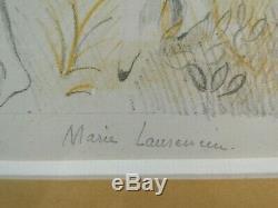 Lithographie D'epoque Art Deco Marie Laurencin Signee La Ronde