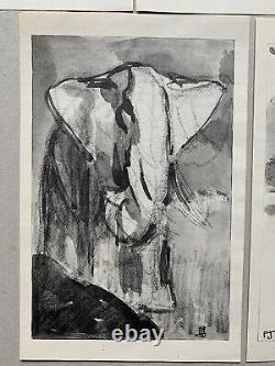 Lot 5 GRAVURE Art Deco Panthere Lion Tigre Éléphant Rhinocéros signée PAUL JOUVE