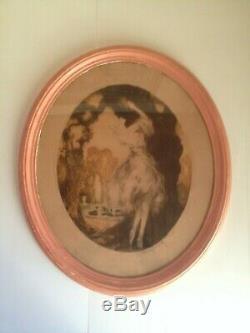 Louis ICART la fidélité Grande Lithographie Couleur originale Art Déco Femme