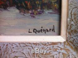 Lucien Quenard, tableau, montagne, Alpes, paysage