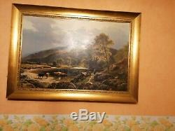 Lucien Quenard, tableau, montagne, Alpes, paysage, Grenoble, Belledonne
