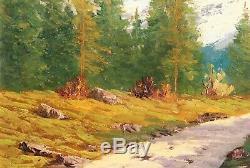 Lucien Quenard, tableau, montagne, Meije, Alpes, paysage, Oisans, Ecrins, Isère