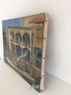 Ludo CHAUVIAC 1894-1978 Huile Toile Tableau Palavas Hôtel Paris Montpellier