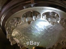 Lustre Art Déco Petitot style cristal signe EZAN, chandelier ceiling light