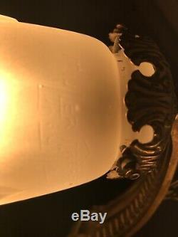 Lustre Art Deco Signe Muller Freres Lampe French Tulipe Applique Plaque Daum