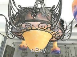 Lustre Art Deco Signe Muller Lampe French Applique Degue Viti Vini Caveau