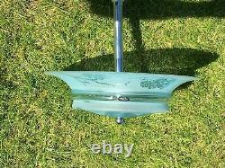 Lustre plafonnier suspension art deco signe DEVEAU à décor d'oiseux