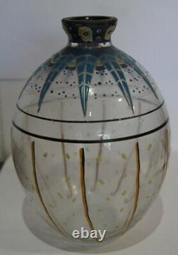 Magnifique vase Art Déco signé Delatte Nancy #70#
