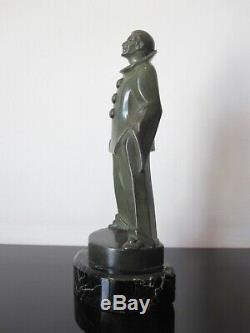Max Le Verrier Ancienne statuette Pierrot. Signée