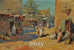 Orientaliste, village marocain 1927 Marius HUBERT-ROBERT (1885-1966)