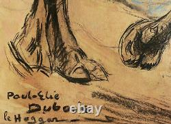 Paul Élie DUBOIS dessin aquarelle gouache tableau orientaliste Algérie Hoggar