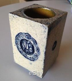 Petit Vase Porte crayon Art deco signé Capron Vallauris par Jean DERVAL