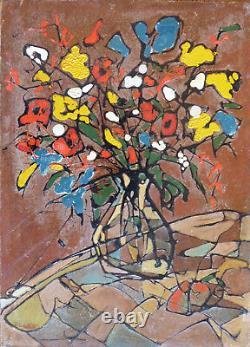 Pierre CATTON (1903-19) HsP 1941 22x16cm Bouquet de fleurs Art déco Fauvisme