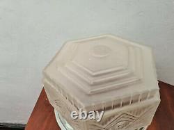 Plafonnier Art Déco verre dépoli Lalique non signé 1930