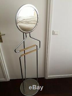 Porte habit métal miroir pour costume signé Jean Perzel design art déco
