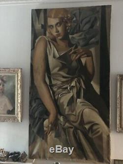 Portrait des années 1940 signé DE LEMPICKA