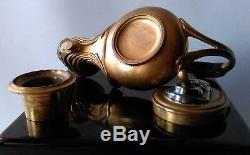 RARE LAMPE À HUILE XIXe signée FERDINAND BARBEDIENNE (1810-1892)