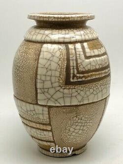 RENE BUTHAUD (1886-1986) Vase ovoïde en Grès signé Jean DORIS ART DECO XXe