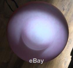 RETHONDES Lampe art déco Signée Fer forgé et pâte de verre (MULLER SCHNEIDER.)