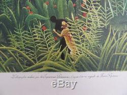 ROUSSEAU Henri Paysage Forêt Vierge LITHOGRAPHIE Originale signée #1976