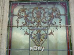 Rare vitrail vitraux style renaissance signé Joseph Vantillard xix ems