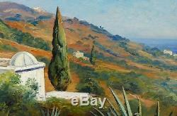 Roméo AGLIETTI tableau art orientaliste paysage Algérie orientalisme Alger côte