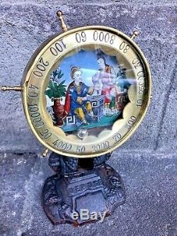 Roulette comptoir fixé sous verre signée VINCENT
