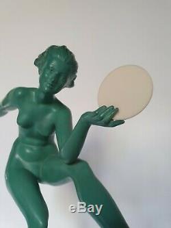 SCULPTURE ART DECO STATUE SIGNEE DERENNE Max le verrier