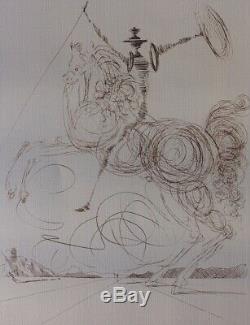 Salvador DALI Don Quichotte LITHOGRAPHIE numérotée et signée #500ex